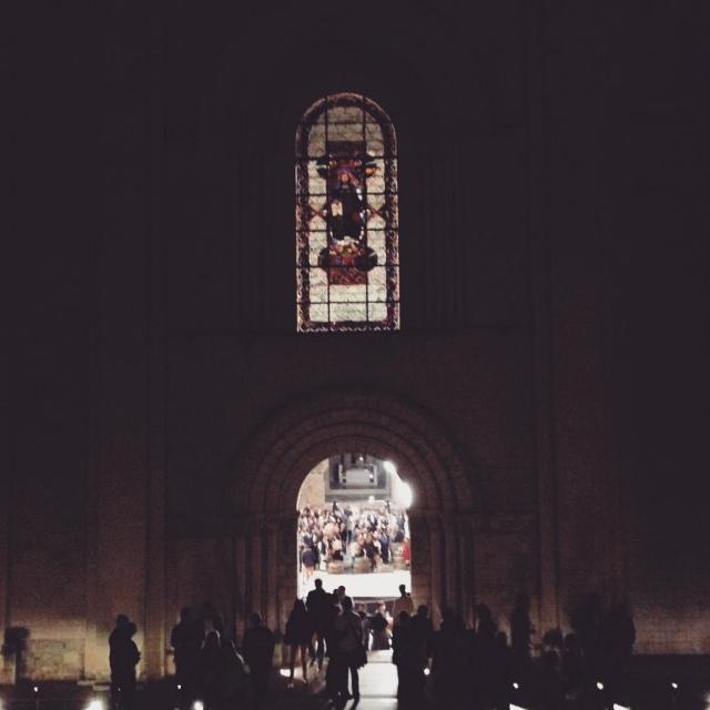 A magic night in Fontevraud Abbey  Beautiful show fantastichellip